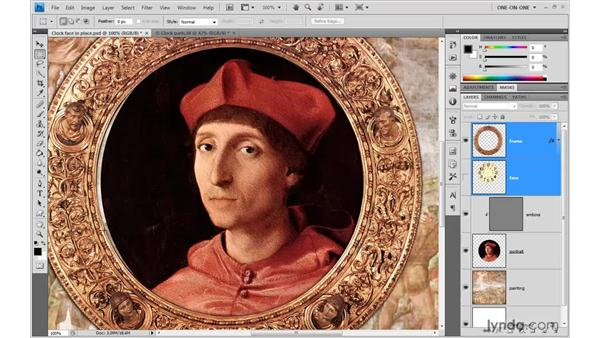 Aligning one layer to fit another: Photoshop CS4 One-on-One: Advanced