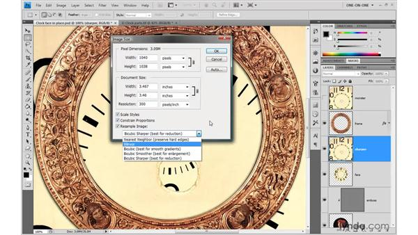 Changing the Image Interpolation: Photoshop CS4 One-on-One: Advanced