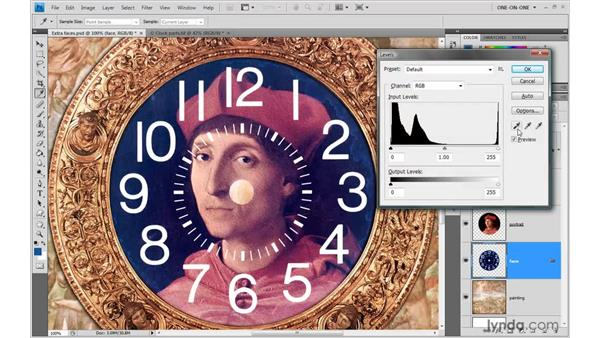 Merging faces: Photoshop CS4 One-on-One: Advanced