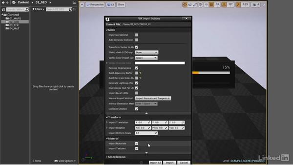 Importing files: Realtime Motion Graphics with Unreal Engine 4