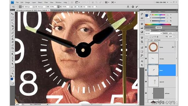 Adding hands and pasting styles: Photoshop CS4 One-on-One: Advanced