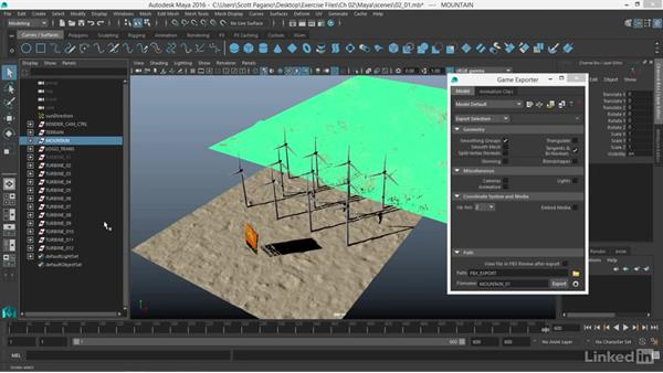 Preparing and exporting your geometry as an FBX file in Maya 2016: Realtime Motion Graphics with Unreal Engine 4