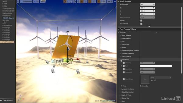 Adding a post-process volume: Realtime Motion Graphics with Unreal Engine 4