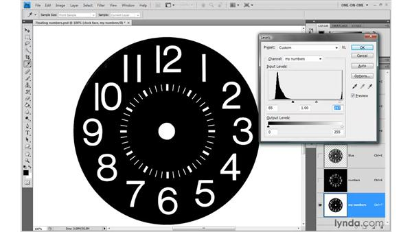 Masking objects against a black background: Photoshop CS4 One-on-One: Advanced