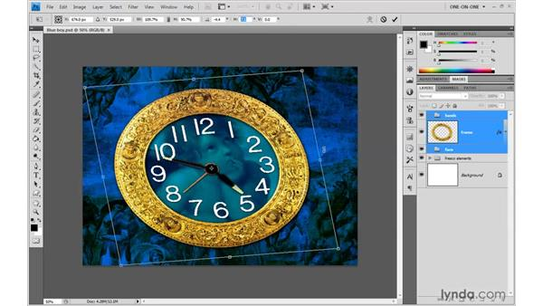 Skews and perspective distortions: Photoshop CS4 One-on-One: Advanced