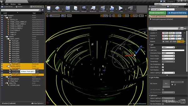 Creating and manipulating lights: Realtime Motion Graphics with Unreal Engine 4