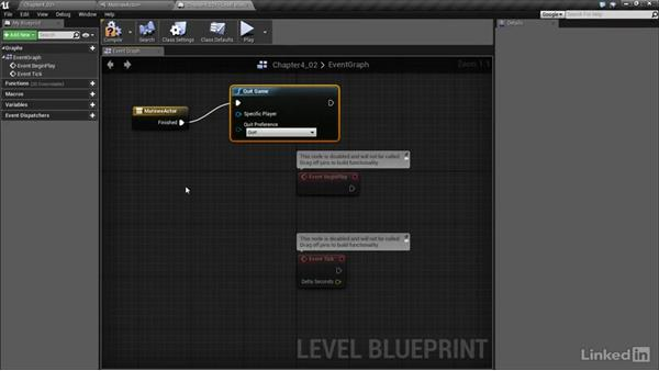 Animating an object in Matinee: Realtime Motion Graphics with Unreal Engine 4