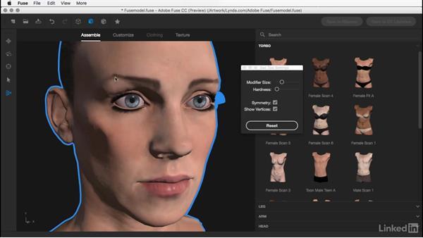 Using the Modify Geometry tool: Learn Adobe Fuse CC: The Basics