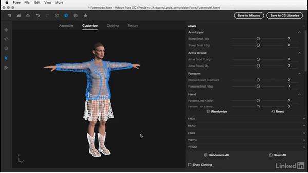 Customizing the body shape: Learn Adobe Fuse CC: The Basics