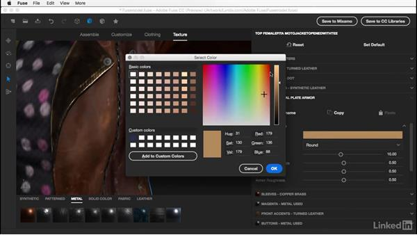 Advanced material settings: Learn Adobe Fuse CC: The Basics