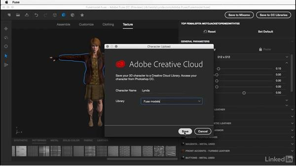 Export to Creative Cloud: Learn Adobe Fuse CC: The Basics