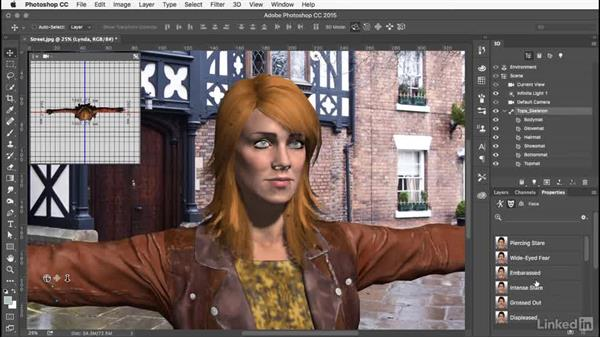 Changing the facial expression: Learn Adobe Fuse CC: The Basics