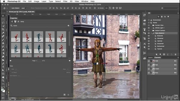 Choosing a pose: Learn Adobe Fuse CC: The Basics