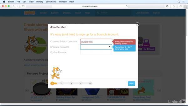 Create a Scratch account: Scratch Programming Language: The Basics