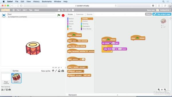 Make a looping beat: Scratch Programming Language: The Basics