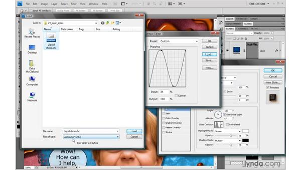 Simulating liquid reflections: Photoshop CS4 One-on-One: Advanced