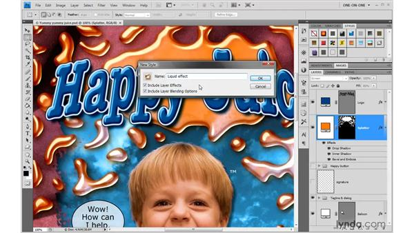 Saving layer styles: Photoshop CS4 One-on-One: Advanced