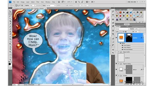 Applying and appending styles: Photoshop CS4 One-on-One: Advanced