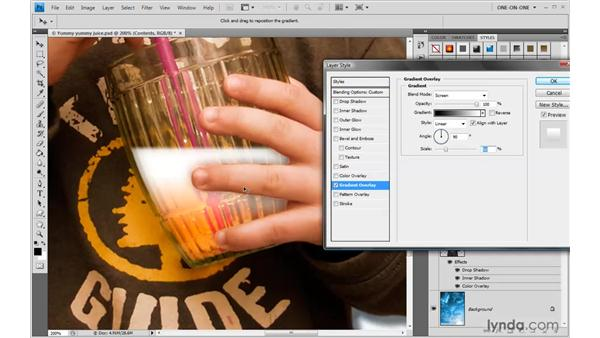 Blending the effect before the layer: Photoshop CS4 One-on-One: Advanced