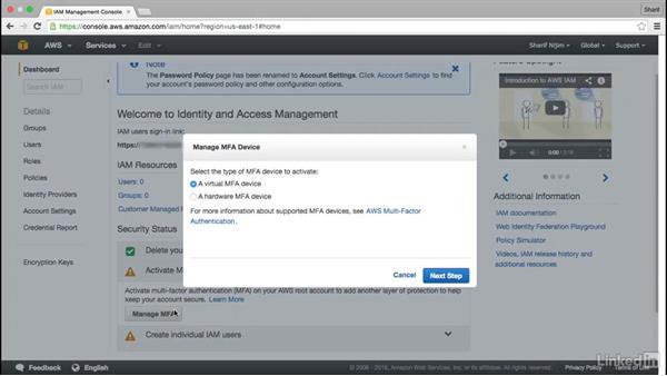 Implement separation of duties: Amazon Web Services: Enterprise Security