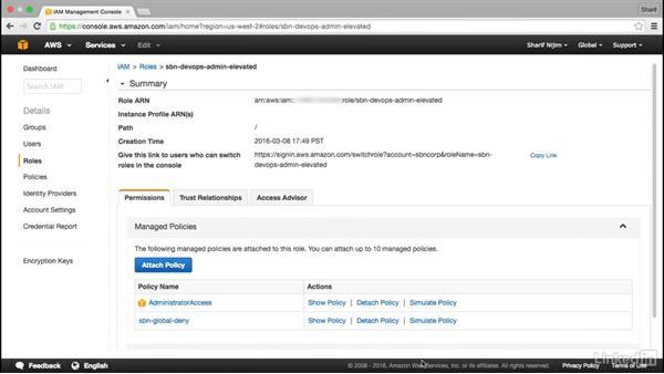 Incorporate least privilege: Amazon Web Services: Enterprise Security