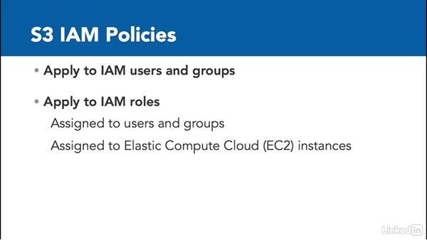 Manage S3 with IAM: Amazon Web Services: Enterprise Security (2016)