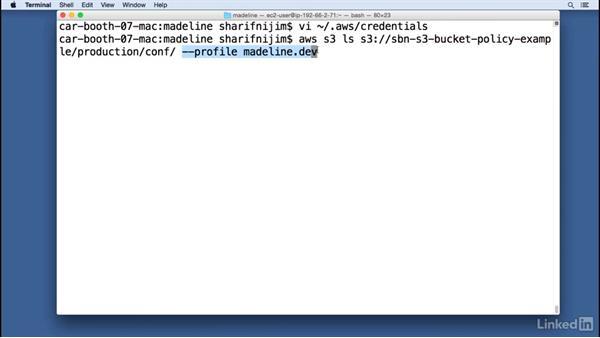 S3 bucket access via the AWS CLI: Amazon Web Services: Enterprise Security
