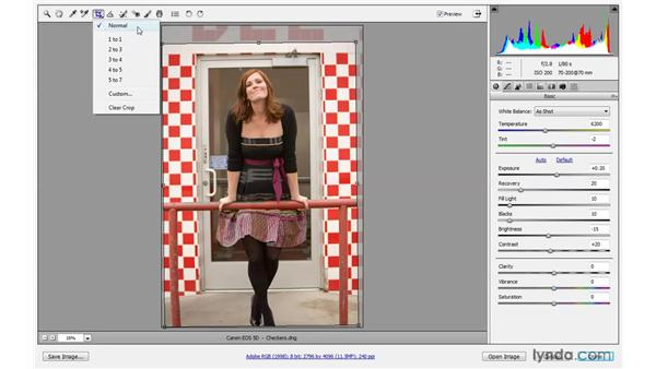 Straightening and cropping a raw image: Photoshop CS4 One-on-One: Advanced