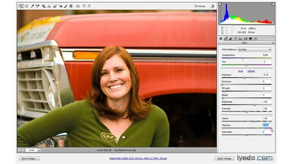 Clarity, Vibrance, and Saturation: Photoshop CS4 One-on-One: Advanced