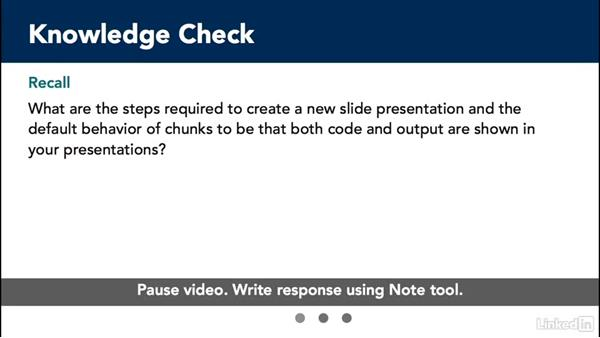 Knowledge check: Creating Interactive Presentations with Shiny and R