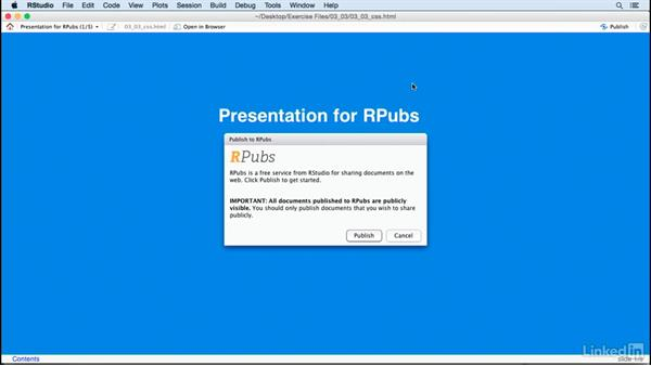 Publish to RPubs: Creating Interactive Presentations with Shiny and R