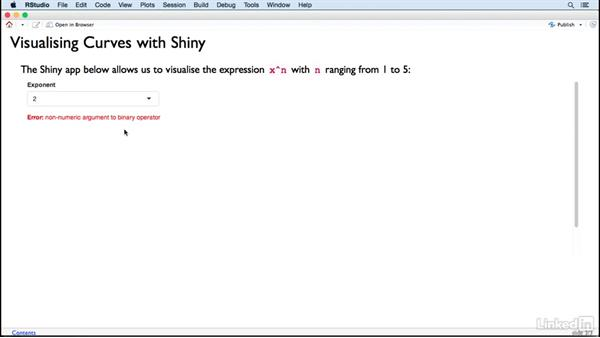 Different control types: Creating Interactive Presentations with Shiny and R