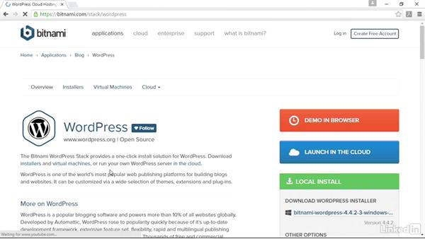 Welcome: Installing and Running WordPress: Bitnami