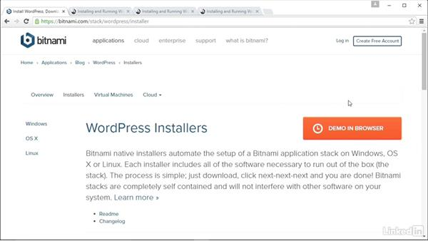 Overview of options: Installing and Running WordPress: Bitnami