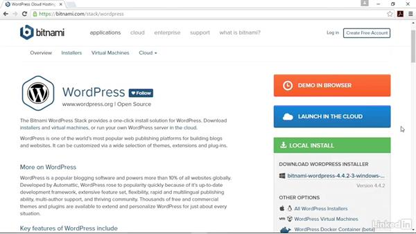 Find the right version for you: Installing and Running WordPress: Bitnami