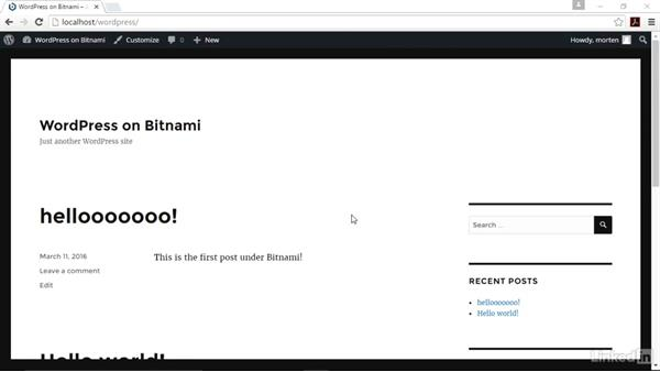 Troubleshoot common issues: Installing and Running WordPress: Bitnami