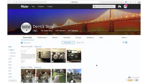 Storage space provided with your account: Sharing Photos with Flickr