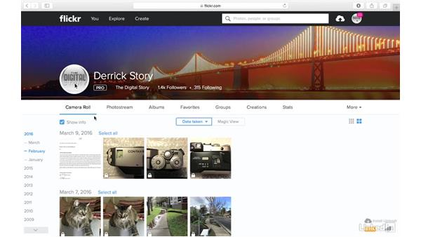 Overview of the homepage: Sharing Photos with Flickr