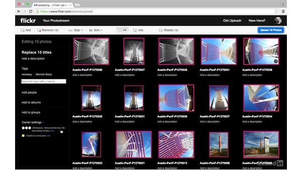Upload through a web browser: Sharing Photos with Flickr