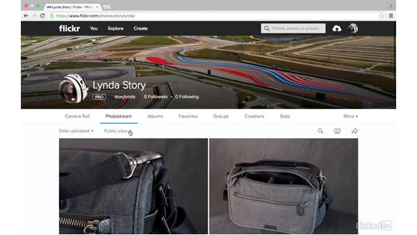 Sort how images display: Sharing Photos with Flickr