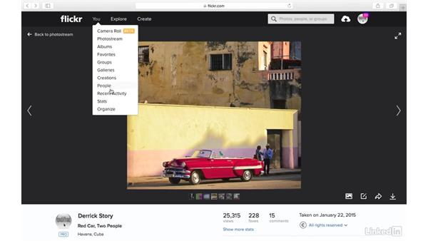 Show more stats (Pro only): Sharing Photos with Flickr