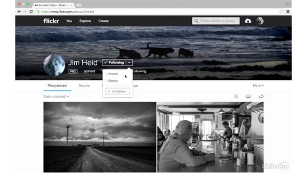 Add contacts: Sharing Photos with Flickr