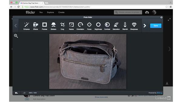 Crop, rotate, and resize: Sharing Photos with Flickr