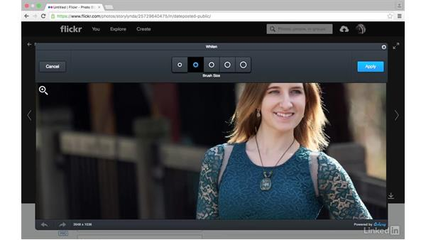 Retouch a portrait: Sharing Photos with Flickr