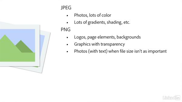 Picking the right web image format: Creating Optimized Web Graphics