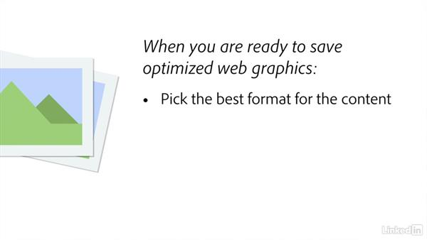 Optimizing raster images: Creating Optimized Web Graphics