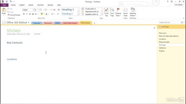 Edit and format text in OneNote
