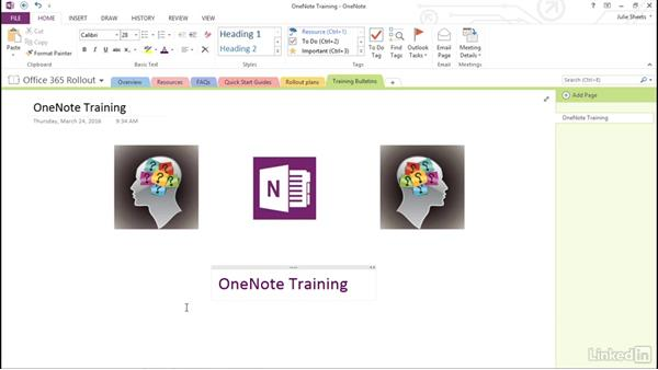 Insert and modify visual elements: OneNote 2013: Prepare for the Microsoft Office Specialist Certification Exam (77-421)