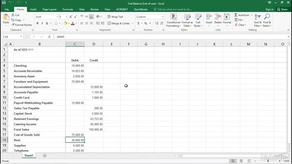 trial balance quickbooks pro 2016