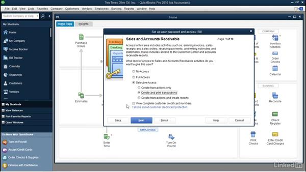 Create additional users in a company file: QuickBooks: Setting up a Company File In Depth